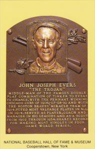 John Joseph Evers National Baseball Hall Of Fame & Museum  Cooperstown New York
