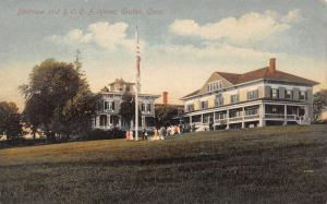 Groton Connecticut~Fairview~Oddfellows Around Flag Pole~IOOF Home~1908 Postcard