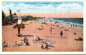 Florida Fort Lauderdale Las Olas Beach 1937