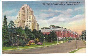 St. Louis, MO - Park Plaza and Chase Hotels - 1956