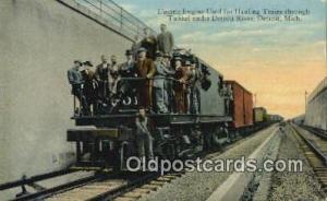 Electric Engine, Detroit, Michigan, MI USA Trains, Railroads Postcard Post Ca...