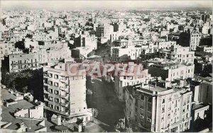 Postcard Modern Casablanca neighborhood overlooking the sea sultan