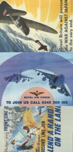Great Britain Vs Japan War Japan Join The RAF 3x Poster Postcard s