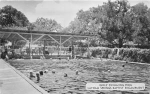 Aquilla Texas~Latham Springs Baptist Encampment-Girls Swimming Pool~Note~1955 Pc