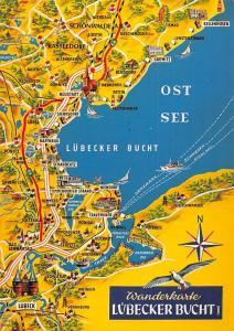 Wanderkarte Luebecker Bucht Stadtplan Ostsee Gruemitz Map
