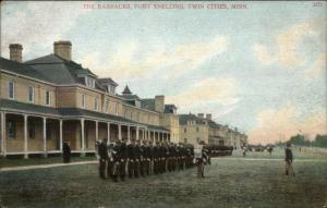 Twin Cities MN - Barracks Fort Snelling 1910 Postcard