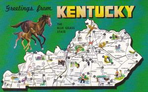 Greetings From Kentucky With Map