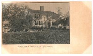 Massachusetts   Spencer , Pope Mansion