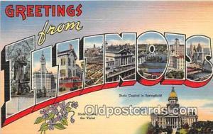 Linen Illinois, USA Postcard Post Cards Illinois, USA Linen