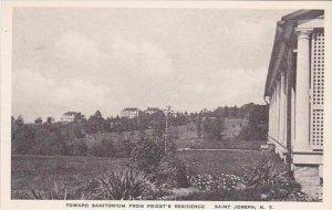New York Saint Josephs Toward Sanitorium From Priests Residence Albertype