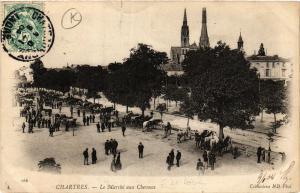 CPA CHARTRES - Le Marché aux Chevaux (385607)