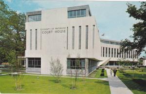 Exterior of Waterloo County Court Building, Weber Street, Kitchener, Ontario,...