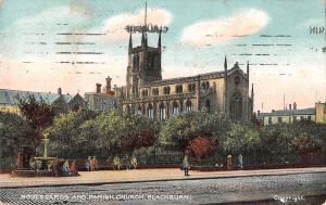uk14953 boulevards and parish church blackburn uk