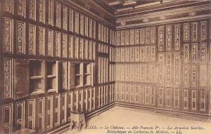 Le Chateau, Aile Francois 1st, Les Armoires Secretes, Bibliotheque de Cathrin...