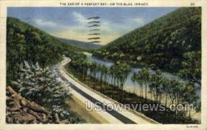 Blue Juniata, Pennsylvania, PA, Post Card Blue Juniata PA 1938 Missing Stamp