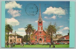 Stockton California~St Mary Assumption Catholic Church~Standard Chrome Postcard