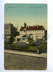 192396 POLAND WARSZAWA Mickiewicz monument Vintage postcard