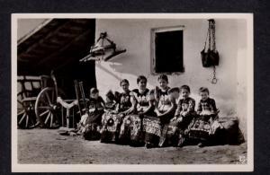 Hungary Mez?kövesd Girls Costumes Hongrie Photo Postcard RPPC Carte Postale...
