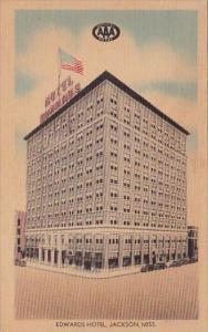 Mississippi Jackson Edwards Hotel 1947
