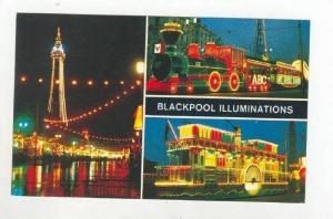 3Views, Blackpool Illuminations, The Tower & Promenade, Train, River Boat, Bl...