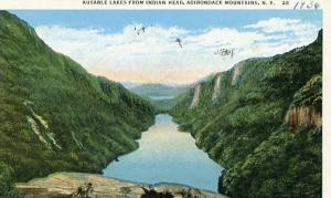 NY - Adirondacks, Ausable Lakes from Indian Head