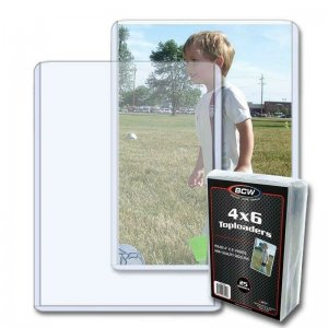 Pack of 25 BCW Toploader 4 x 6 Postcard or Photo Holder Archive Protector
