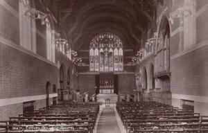 The Organ in Chapel at Epsom College Surrey Antique Real Photo Postcard