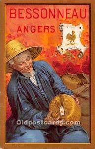 Advertising Postcard - Old Vintage Antique Bessonneau Angers Unused