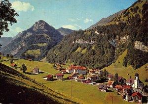 Switzerland Melchtal Village Church Mountain General view Postcard