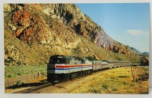 Amtrak Desert Wind Railroad Train Oversize Vintage Postcard