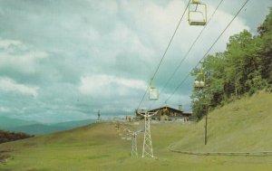 GATLINBURG , Tennessee , 50-60s ; Looking Toward Lodge at Ski Resort, Lift