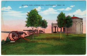 1930-45 Chattanooga TN Tennessee Boynton Park Cameron Hill Civil War Postcard