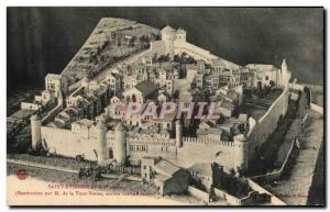 Old Postcard Saint Etienne Restitution M Tower Varan former librarian