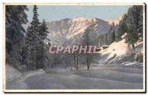 Postcard Old Gebirgslandschaft Im Winter