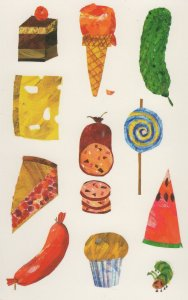 Ice Cream Cornet Lollipop Cheescake Cake Eric Carle Book Postcard