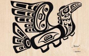 Pacific Northwest Indian Motif HOHO-THUNDERBIRD , 1950-60s