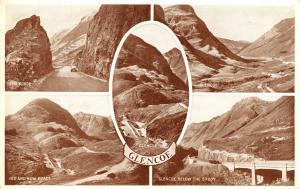 Vintage Postcard Glencoe Multiview, Scotland by Valentine's Phototype Series #G
