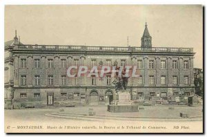 Old Postcard Montauban Museum of Natural History Stock Exchange and the Comme...