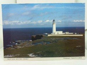 Vintage Postcard Noup Head Lighthouse Westray Orkney