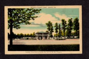 GA Browns Cottage Tourist Camp GRIFFIN GEORGIA Postcard