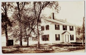 1917 BOSCAWAN New Hampshire RPPC Postcard Parsonage