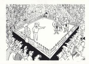 Boxing La Boxe Sport Noble French Boxer Comic Limited 150 Postcard