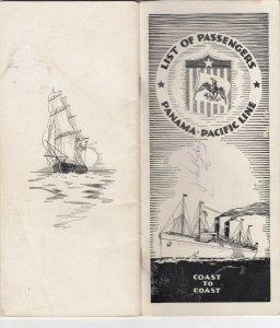 Panama-Pacific Line , List of Passengers , 1929, Coast to Coast