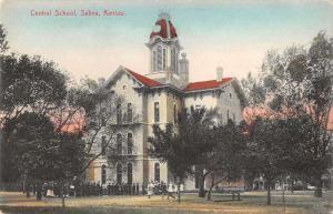 Salina Kansas Central School Vintage Postcard JB626301