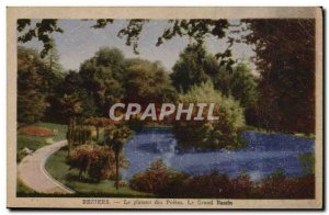 Old Postcard Beziers Le Plateau Des Poetes the great basin
