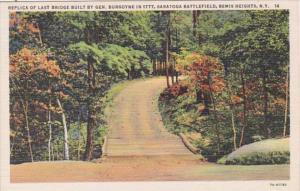 New York Saratoga Replica Of Last Bridge Built By General Borgoyne In 1977 Sa...