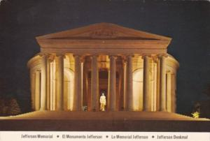 Washington D C The Jefferson Memorial At Night