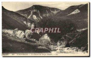 Old Postcard The Auvergne Le Chemin Des Gorges D Enfre