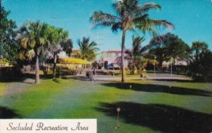 Florida Fort Lauderdale Driftwood Apartments 9 Hole Putting Green 1957