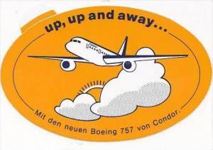 CONDOR BOEING 757 VINTAGE AVIATION LABEL